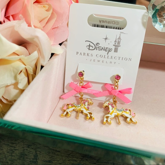 Disney Parks Mary Poppins Carousel Horse Dangle Earrings NEW